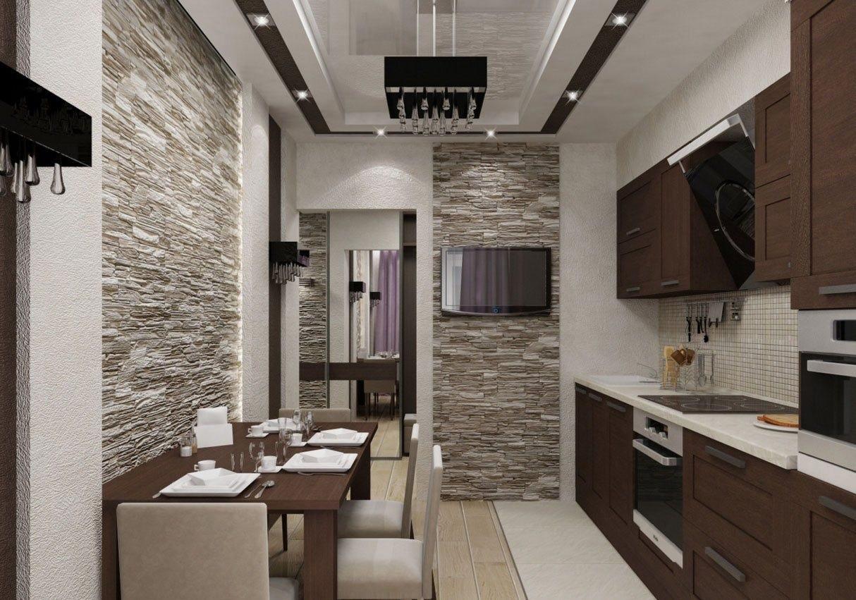 кухня в одном стиле с квартирой