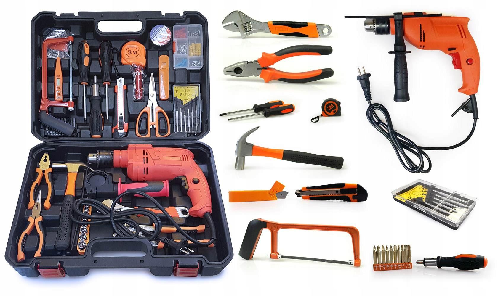 набор инструментов с дрелью