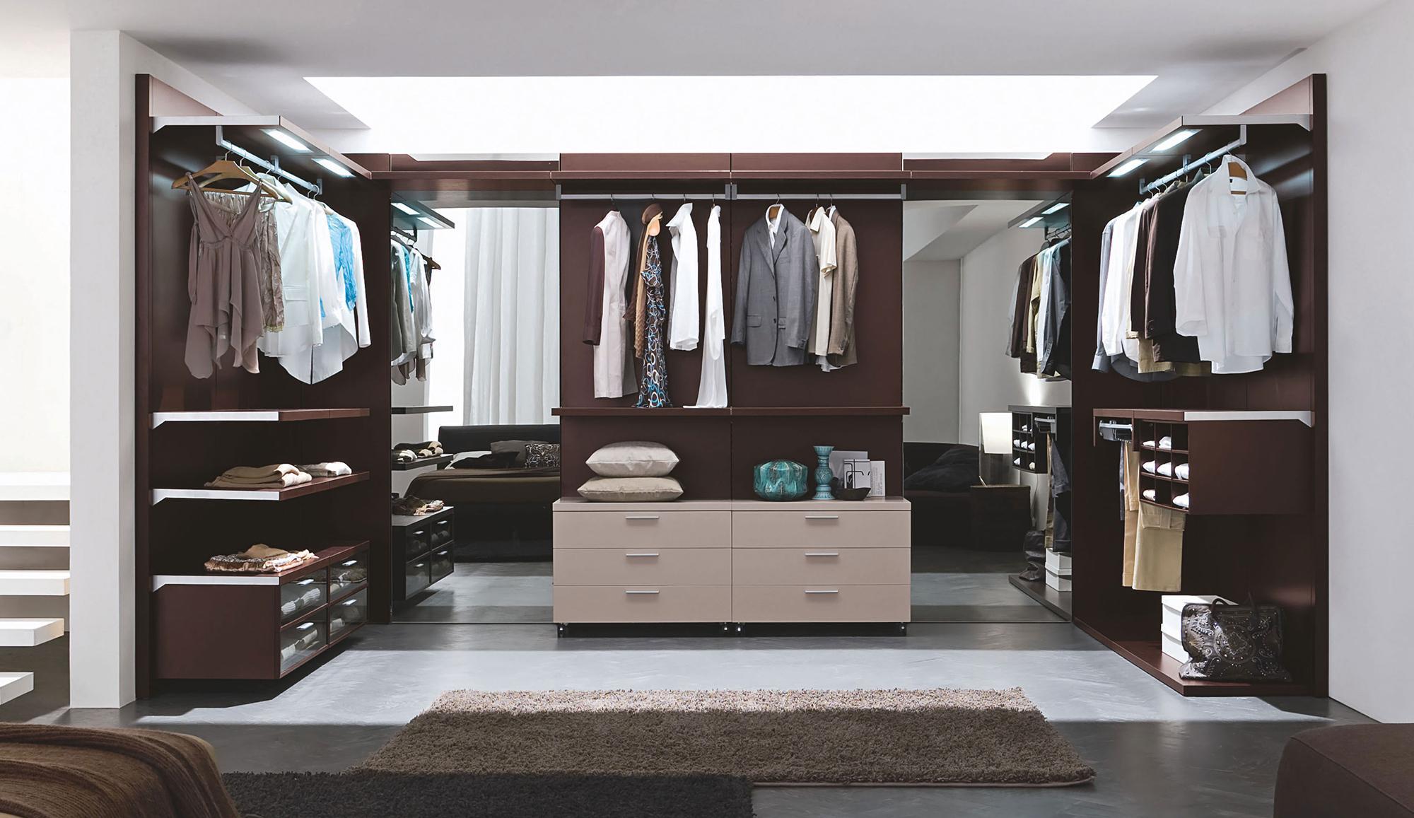 Разновидности гардеробных