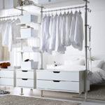 гардеробная в белом цвете