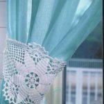 декор вязаный на штору