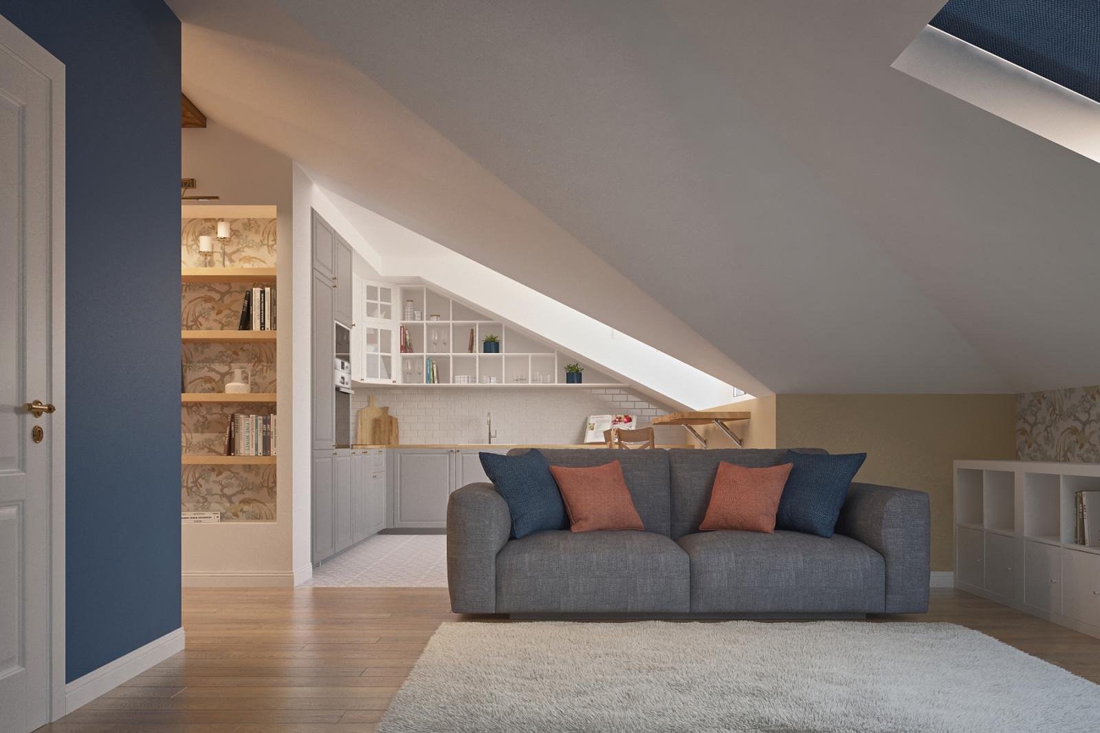 как посчитать площадь комнаты со скошенным потолком
