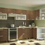 коричневый цвет для кухонь