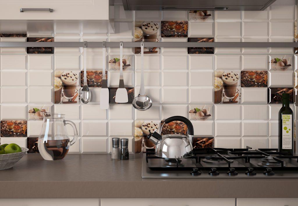 Кафельный фартук на кухню фото