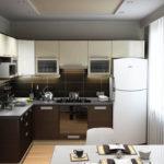 как практично расставить мебель на кухне