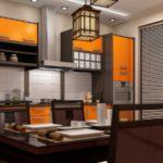деревянная кухня со вставками