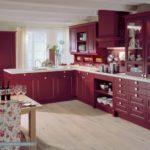 кухня под красное дерево