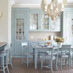 нежно-голубая кухня прованс