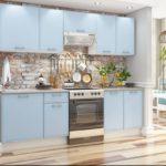 пол на голубой кухне