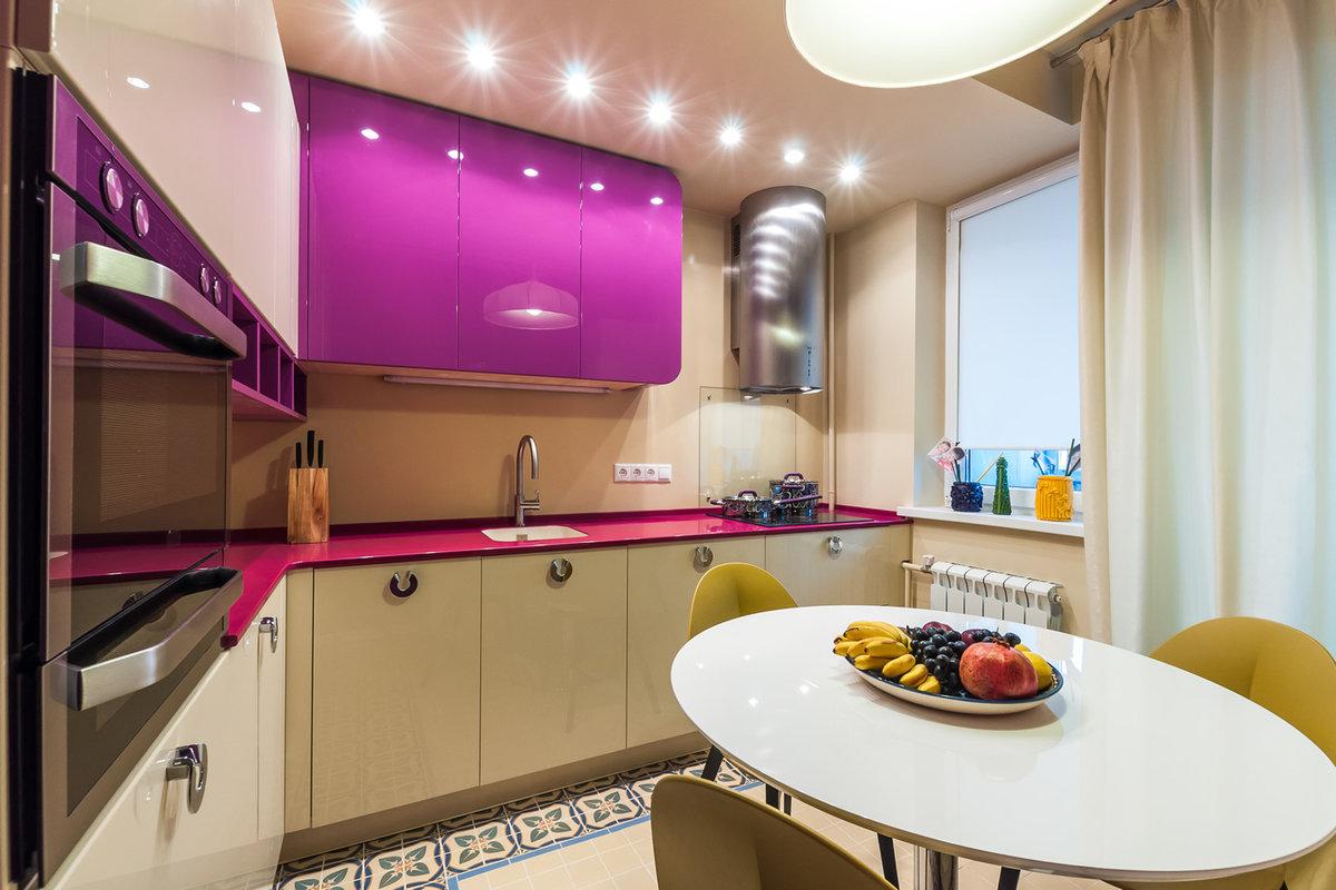 оформление кухонной мебели углом