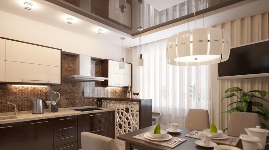 бежевый цвет на кухонном пространстве