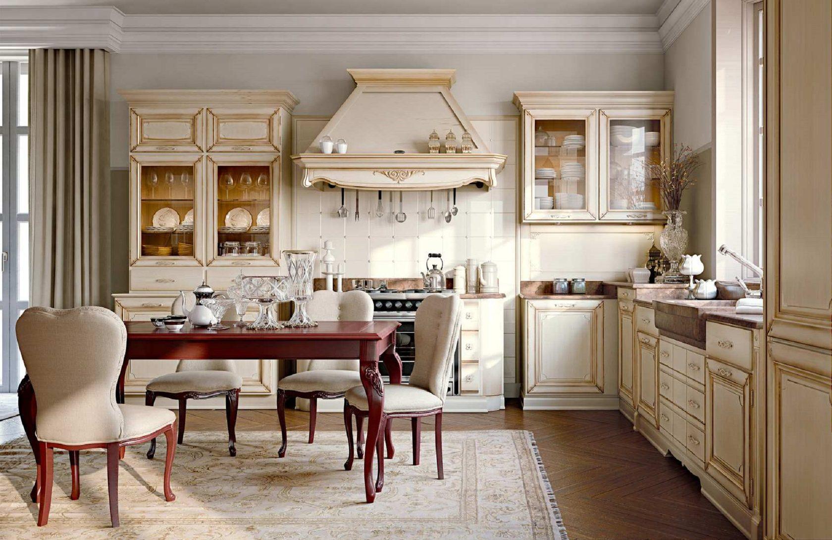 кухня оформленная в классическом стиле