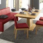 бардовый кожаный диван на кухню