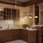 мебель для кухни под дерево