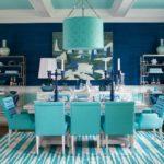 кухня мятная с синим