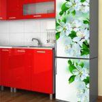 пленка цветы на холодильник