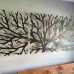 трафаретное настенное дерево