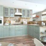 нежно-лиловая кухня прованс