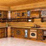 необычная кухня из дерева