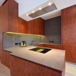 необычная деревянная кухня