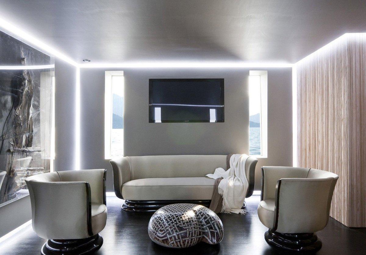ниши в потолке с подсветкой