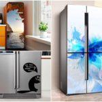 аэрографическая роспись холодильника