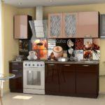 персиково-шоколадная кухня