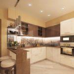 правила оформления кухни в цвете капучино