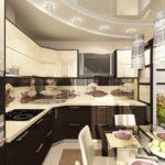 навесной потолок на кухне