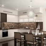круглый светильник на кухне