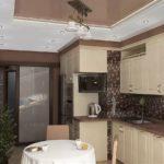 идеи дизайна кухни в коричневых тонах