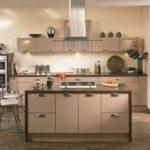простой вариант оформления кухни в кофейном цвете