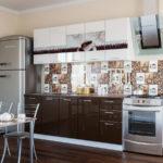 серый цвет в интерьере кофейной кухни