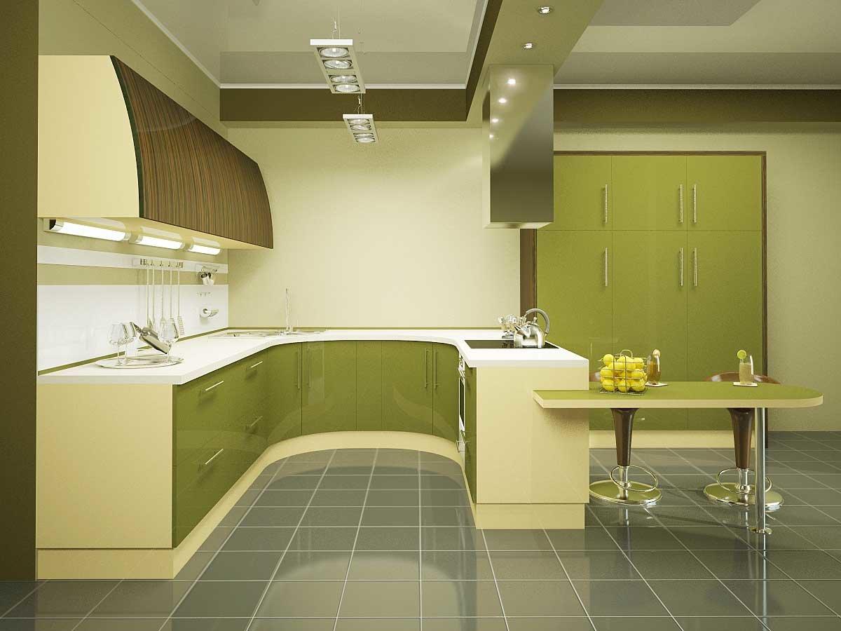 как правильно оформить кухню в оливковых тонах