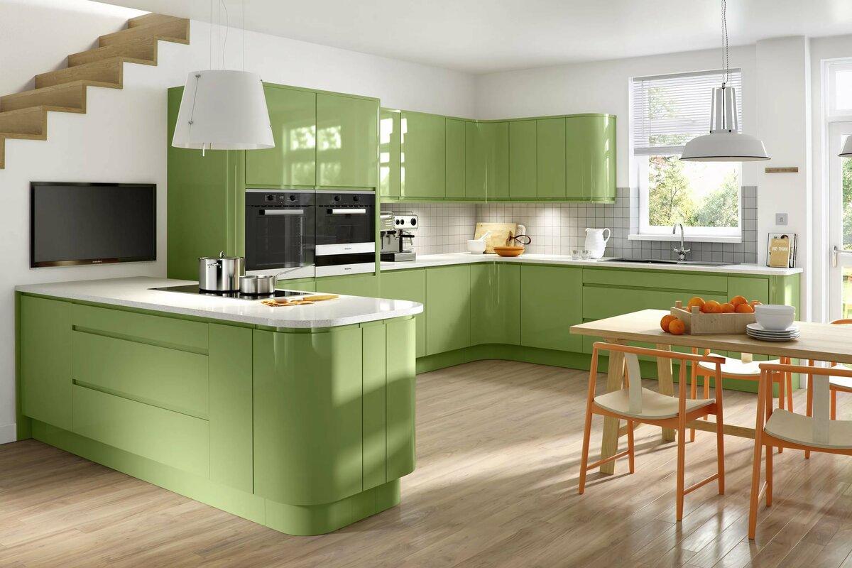 классическая мебель оливкового цвета
