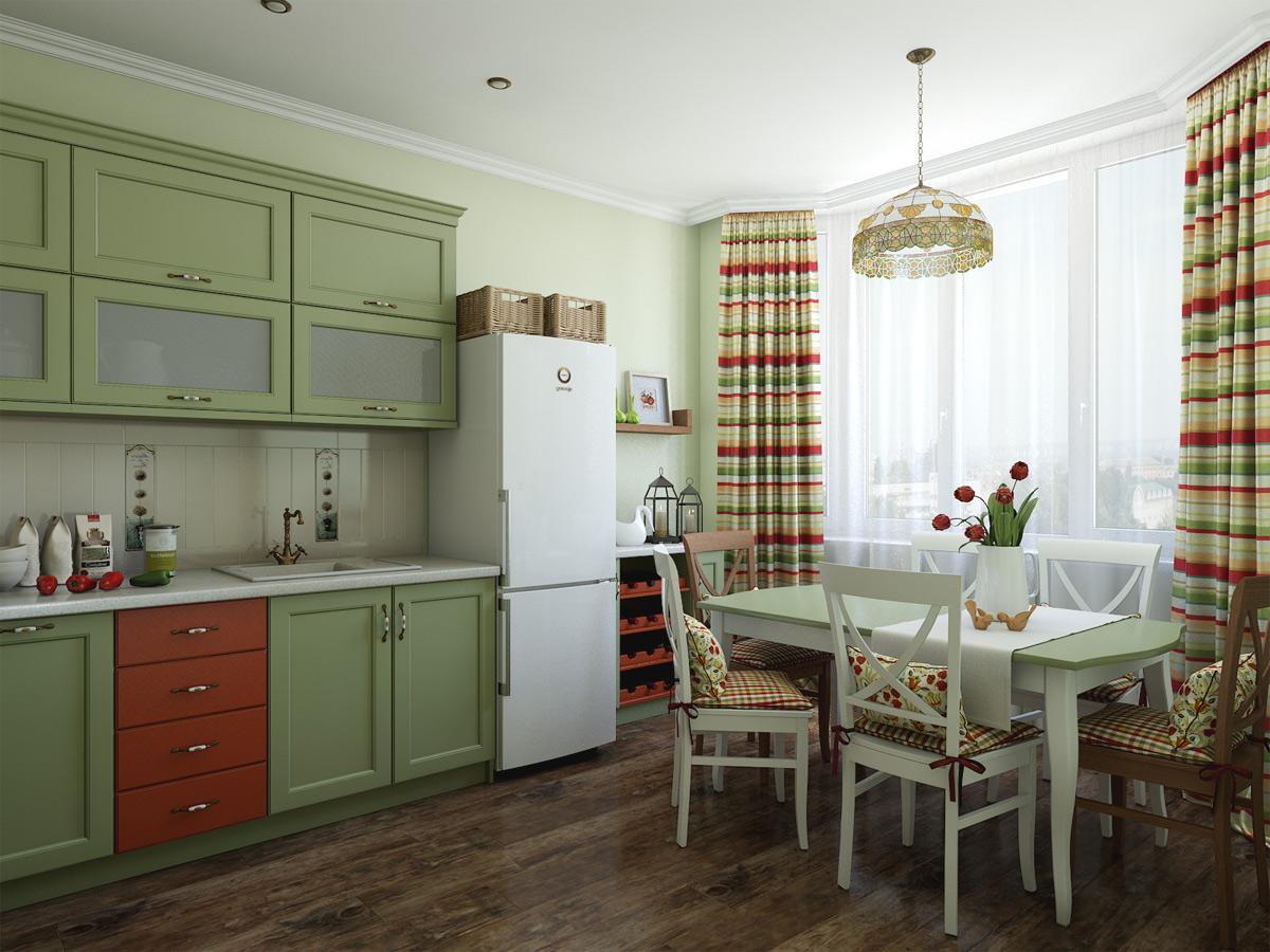 кухня в оливковых тонах в стиле прованс