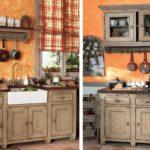 оранжевая кухня деревенская