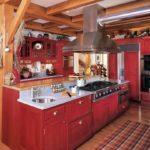 оригинальная деревянная кухня