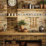 керамика в кухне под дерево