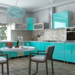 как расставить мебель на мятной кухне