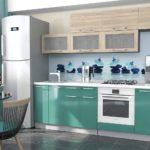 мебель для кухни мятного цвета