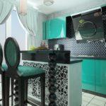 черно-мятная кухня