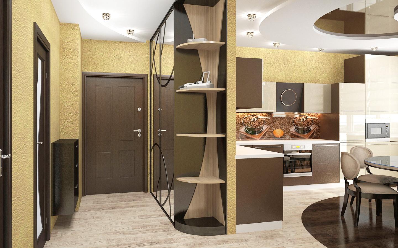 шкаф перегородка между кухней и прихожей