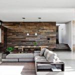 стена из деревянной плитки
