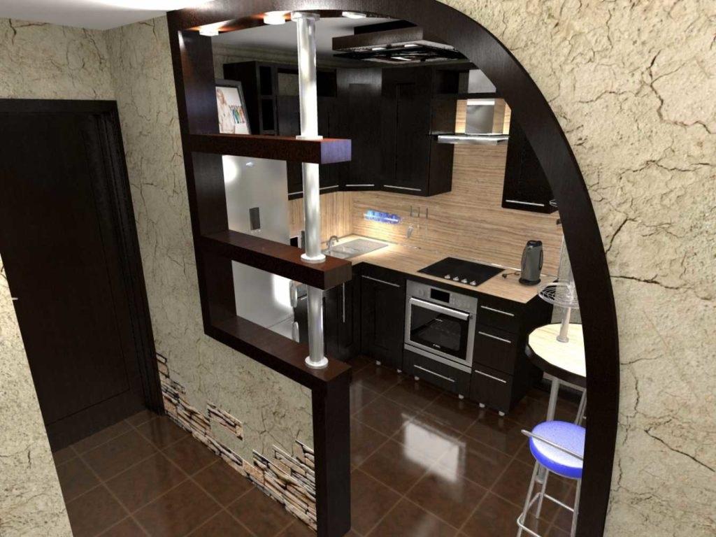 перегородка для кухни в виде арки