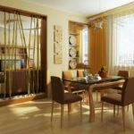 перегородка кухонная с бамбуком