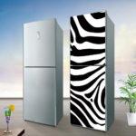холодильник в виде зебры
