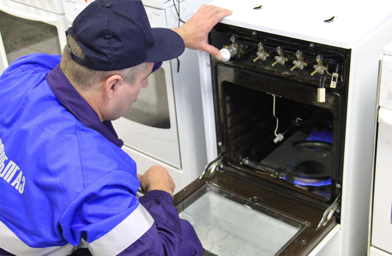 подключение газовой духовки