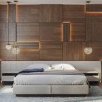 деревянная плитка с подсветкой