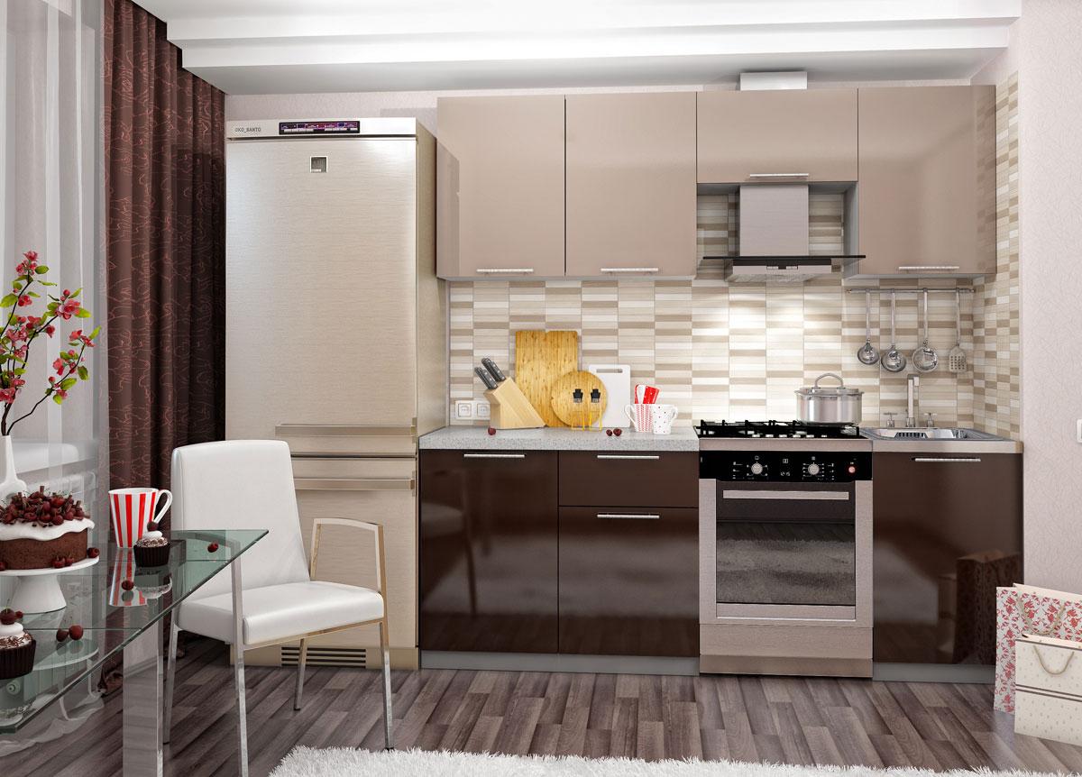 оформление пола на кухне кофейного цвета